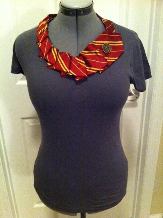 SALE Harry Potter shirt - tie collar - Size L