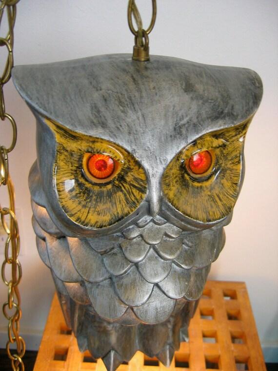 Hanging Owl Lamp Vintage 1970 S Ceramic By Thegroovevintage