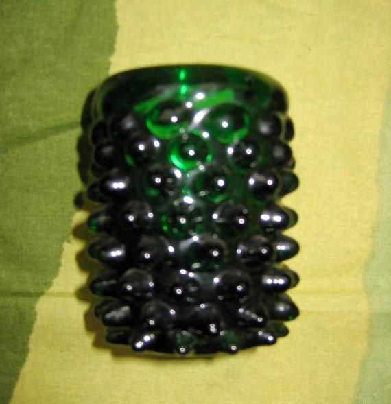 Green Art Glass Vase.  WOW fabulous.   Mid century modern, Danish Modern, Eames era.  Vintage 1960's.