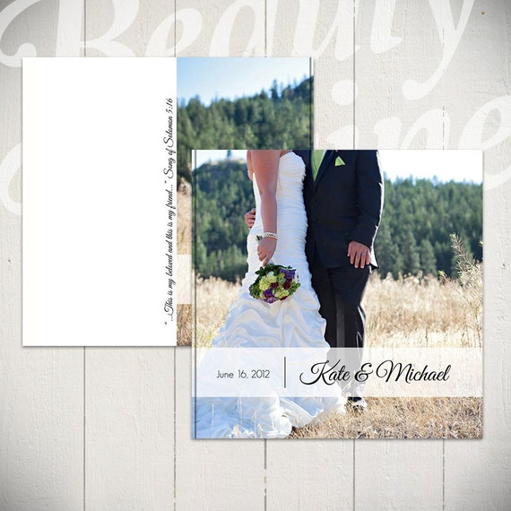 Wedding Album Template: She Wore White - 10x10 Wedding Book Template for Photographers