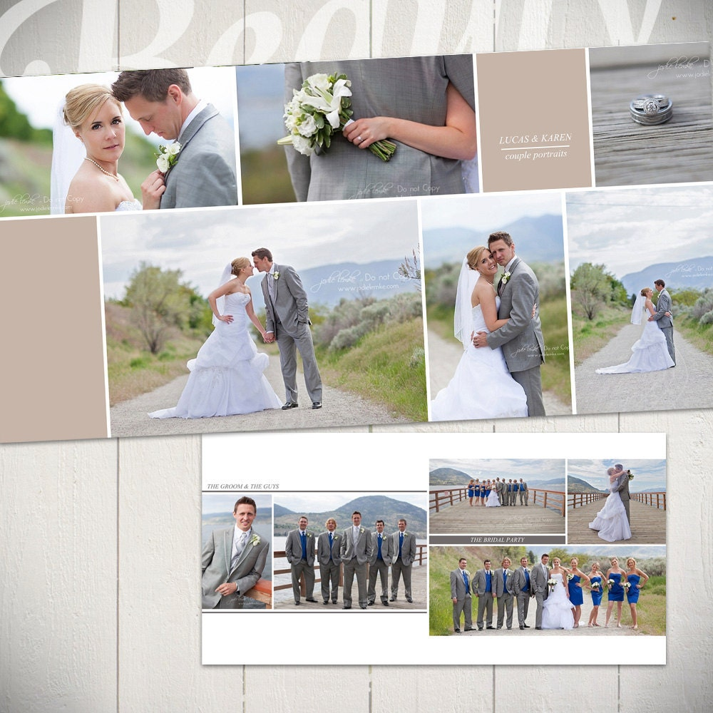 Designing Wedding Albums: Wedding Album Template: Forever 10x10 By LaurieCosgroveDesign