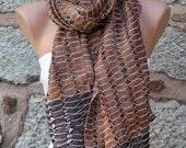 Multicolor Silk Shawl Scarf -  Cowl