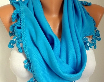 Turquoise Pashmina Scarf ,Teacher Gift Spring Hanukkah Oversize Shawl Cowl Bridesmaid Gift Ideas For Her Women's Fashion Accessories