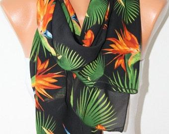 Refresh Scarf  Floral Scarf  Summer Scarf - Shawl Scarf   - Multicolor - Beach Wrap Women Fashion Accessories - fatwoman
