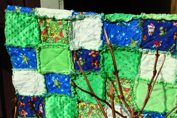 Muppet Rag Quilt Ready to Ship  ON SALE