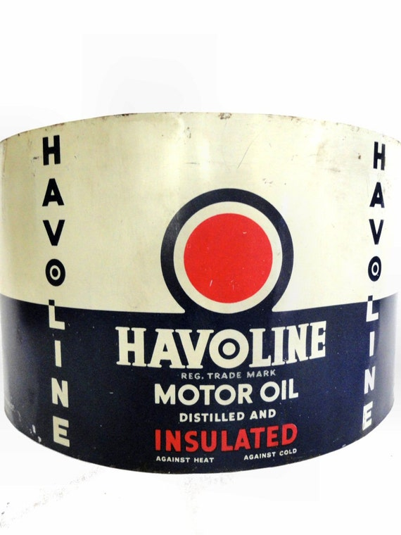 One Antique Havoline Motor Oil Can Advertisement By Simonetcie