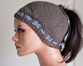 Pattern for a pig tail hat