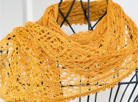 """Pattern for summer lace scarf """"Gracia"""""""