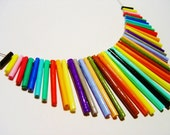 Colorful Tubular Paper Necklace