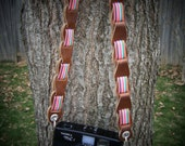 Camera Strap- 27 inch Pleather and Pink