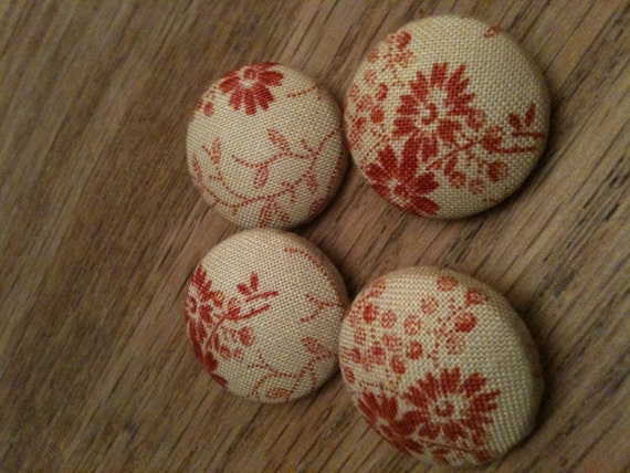 French General fabric covered buttons