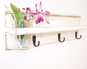 Mason Jar  Shelf ,Furniture, Distressed,Vintage Look,, Hanger
