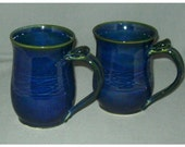 Dark Blue large Ceramic Coffee Cup