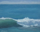 Jennifer Boswell Original Modern Abstract California Impressionist  Surf Seascape Ocean Waves Oil Painting