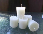 Beeswax votive's,set of 6. Made in small batches to insure freshness'. Safe for those with respiratory problems or allergies