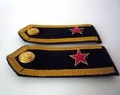 Pair of Vintage Russian Marine Epaulettes