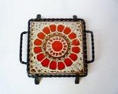 RESERVED - Vintage Ceramic Trivet