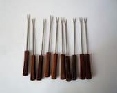 Vintage Set of 10 Mini Appetizer Forks