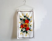 Vintage Malimo Tea Towel with Seventies Flowered Pattern 4
