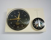 RESERVED - Vintage German Wall Clock with Kitchen Timer from Kienzle