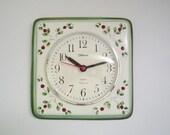 Vintage German Ceramic Wall Clock from Meister Anker