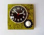 Vintage Wall Clock from Hettich with Kitchen Timer