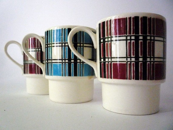 Three Vintage Coffee Cups from GDR