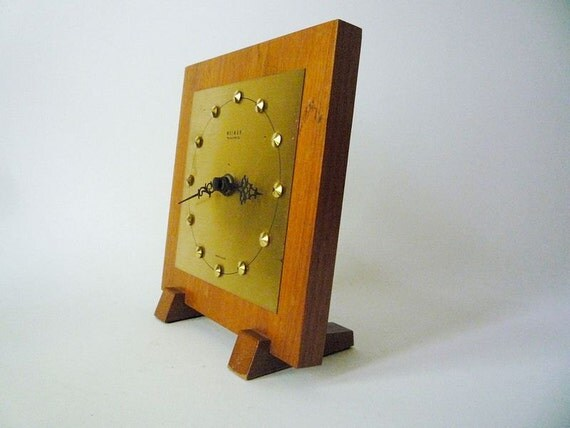 RESERVED - Vintage Weimar Walnut Clock Made in GDR