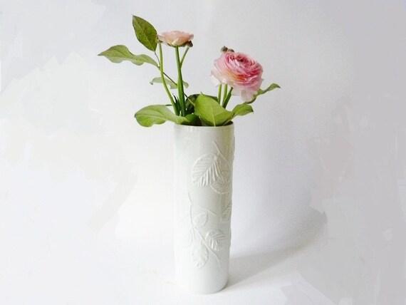 Vintage Big AK Kaiser Bisque Porcelain Vase