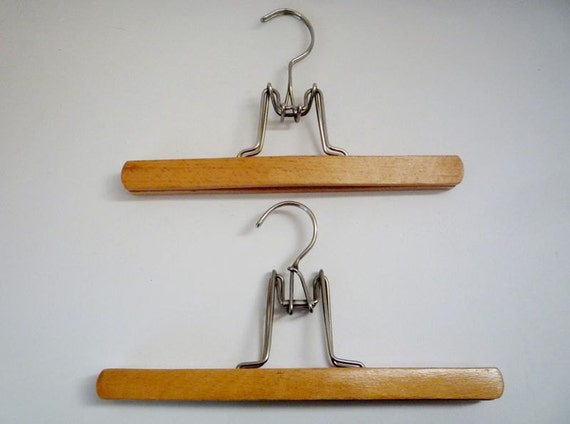 Two Vintage Wooden Hanger for Skirts and Pants