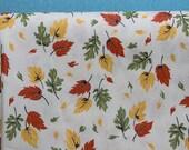 SALE 7 Yards of Vintage Leaf Fabric - Yellow, Orange, Green