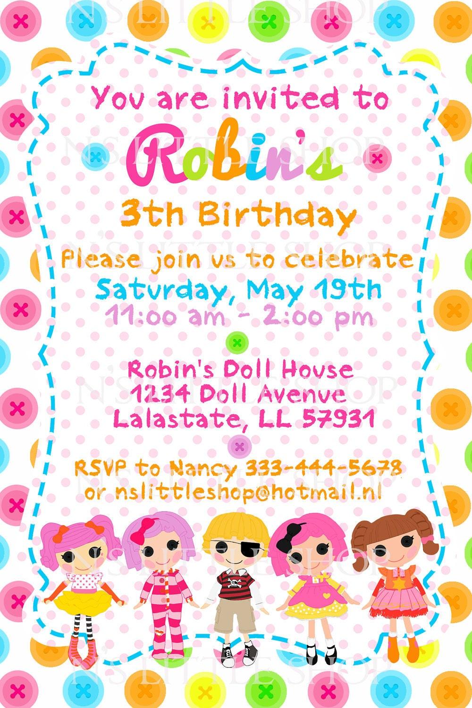 template for birthday invite