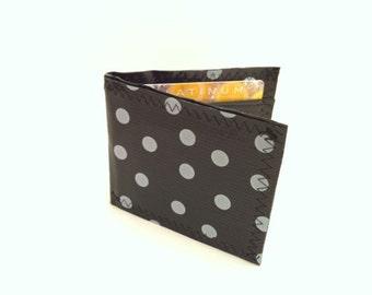 White Polka Dot Billfold Wallet