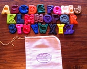 Chunky Funky Rainbow Alphabet Set 26 Letters & Bag