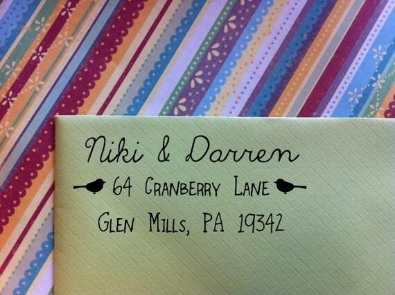 Niki Return Address Stamp Great for Housewarming Gifts