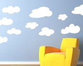 Childrens Decor Vinyl Wall Art Clouds -Childrens wall decal great for a baby nursery or girl or boy bedroom