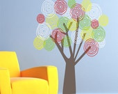 Large Funky Flower Tree Vinyl Decal - Nursery/Bedroom Vinyl Wall Art