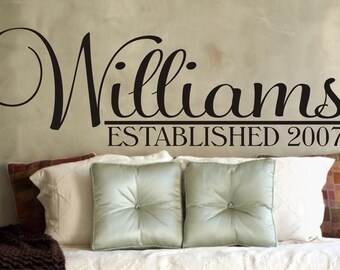 Wall Decal Personalized Monogram Vinyl Wall Art - Vinyl Lettering - Vinyl Decal