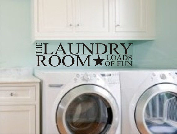 Laundry Room Decal - Laundry Room Decor Wall Decal - Wall Sticker