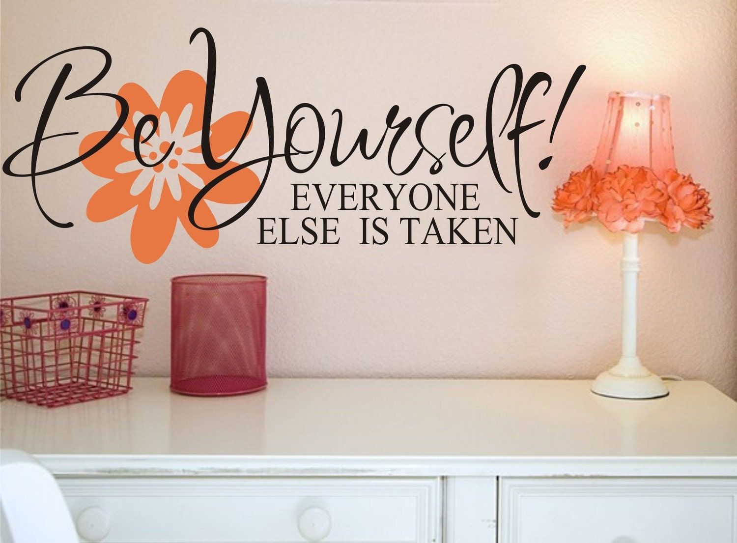 Be Yourself Vinyl Lettering Vinyl Wall Art By Justthefrosting