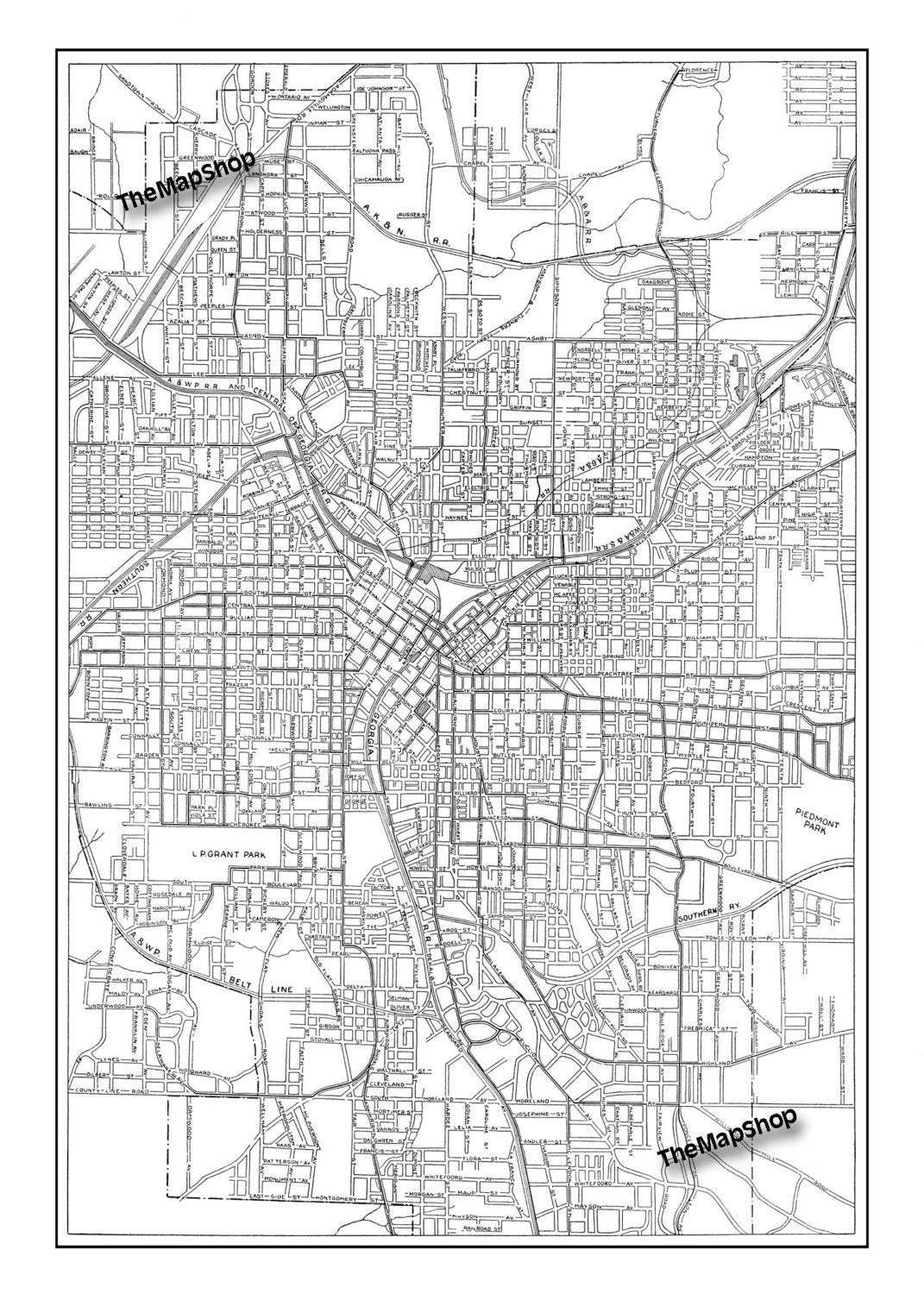 It's just a photo of Crafty Printable Map of Atlanta