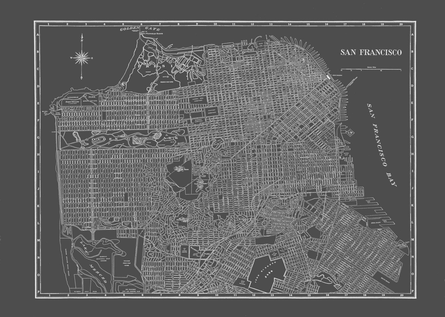 map of university san francisco greater