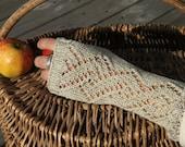 Lacey fingerless gloves,handwear, wristwarmers 100% cotton.