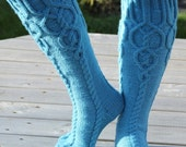 Knitted knee socks, nice and warm