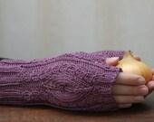 Lacey fingerless gloves,handwear, wristwarmers - 100% cotton