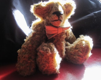 Vintage Mohair Teddy Bear - OOAK Fully Articulated Curly Mohair Bear