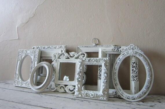 Frame Grouping - Shabby and Chic Style -  Frame set - Childrens decor -Shabby Cottage