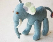 Light Blue ELEPHANT FELT TOY -- Eco friendly handmade pure wool animal toy -- Ideal for newborn baby gift