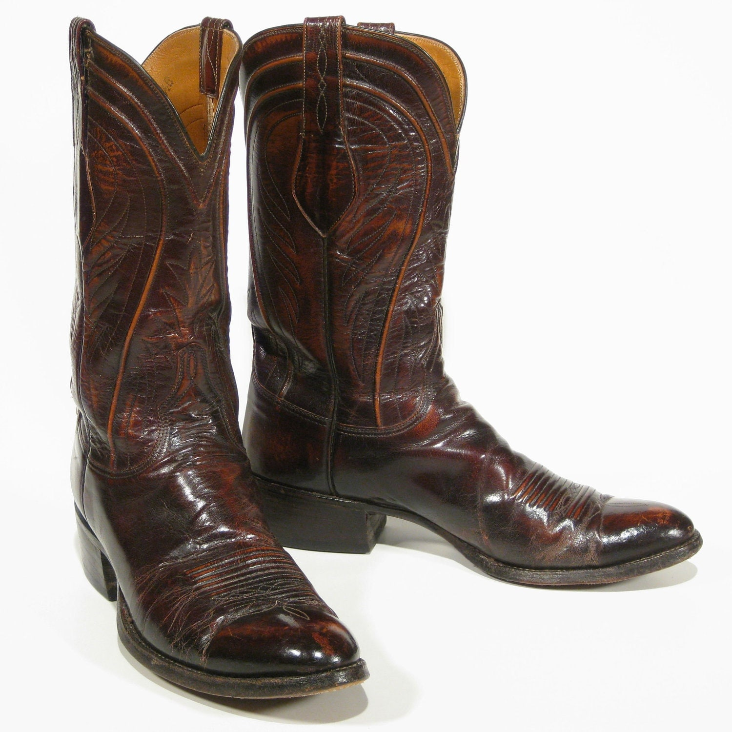 vintage s cowboy boots 10 5 b lucchese