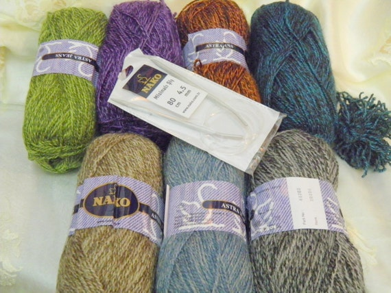 Yarn, Astra Jeans, Acrylic, Sports weight, Variegated, Super soft